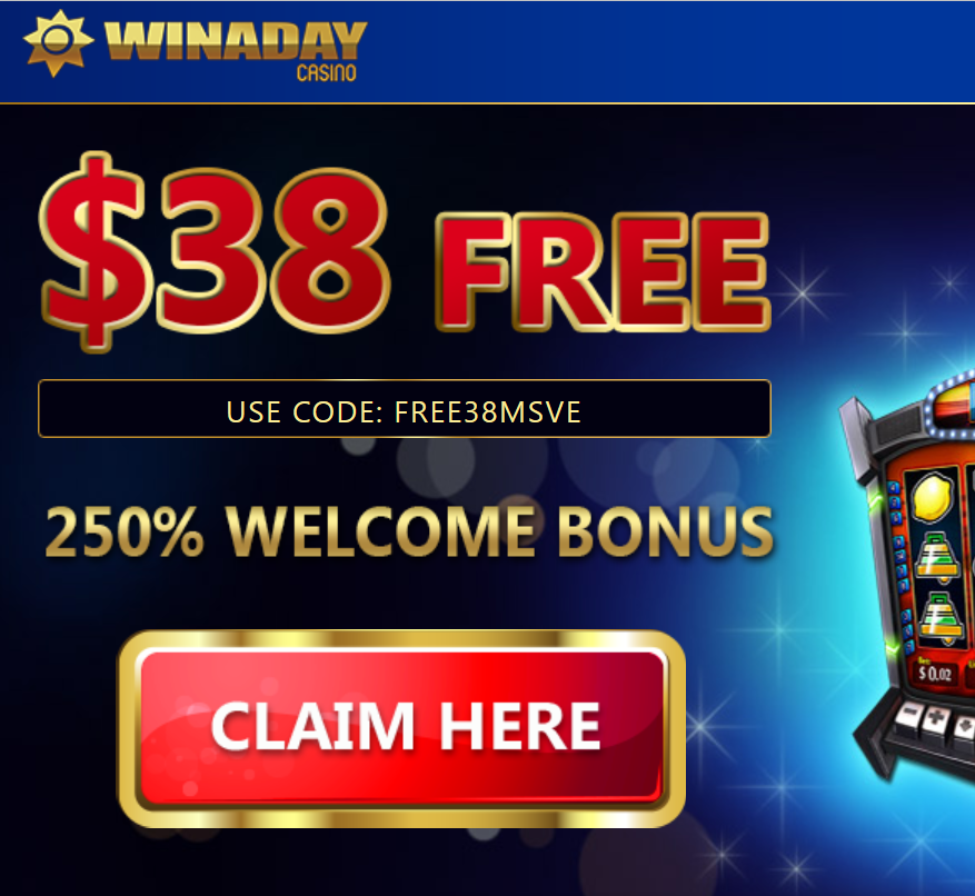 Win A Day Mobile Casino $38 Free No Deposit Bonus